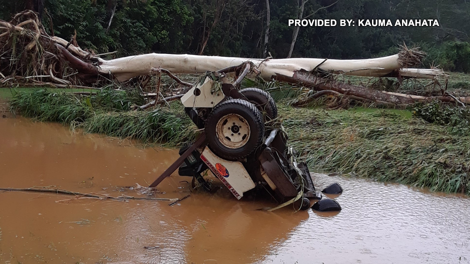 Kauai flooding in Kalihiwai courtesy Kauma Anahata