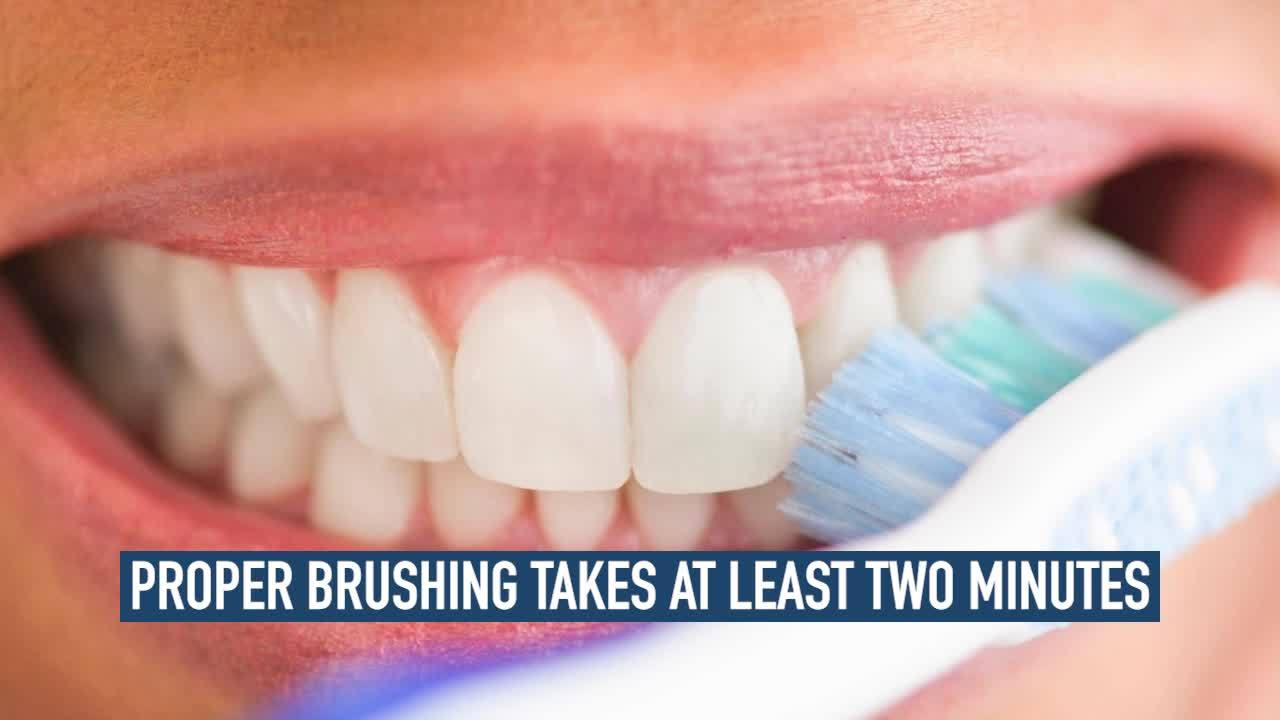 Brush and floss twice a day