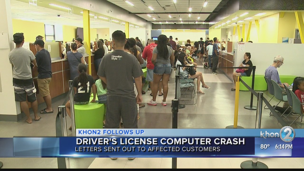 Letters mailed to residents impacted by drivers' licensing server crash