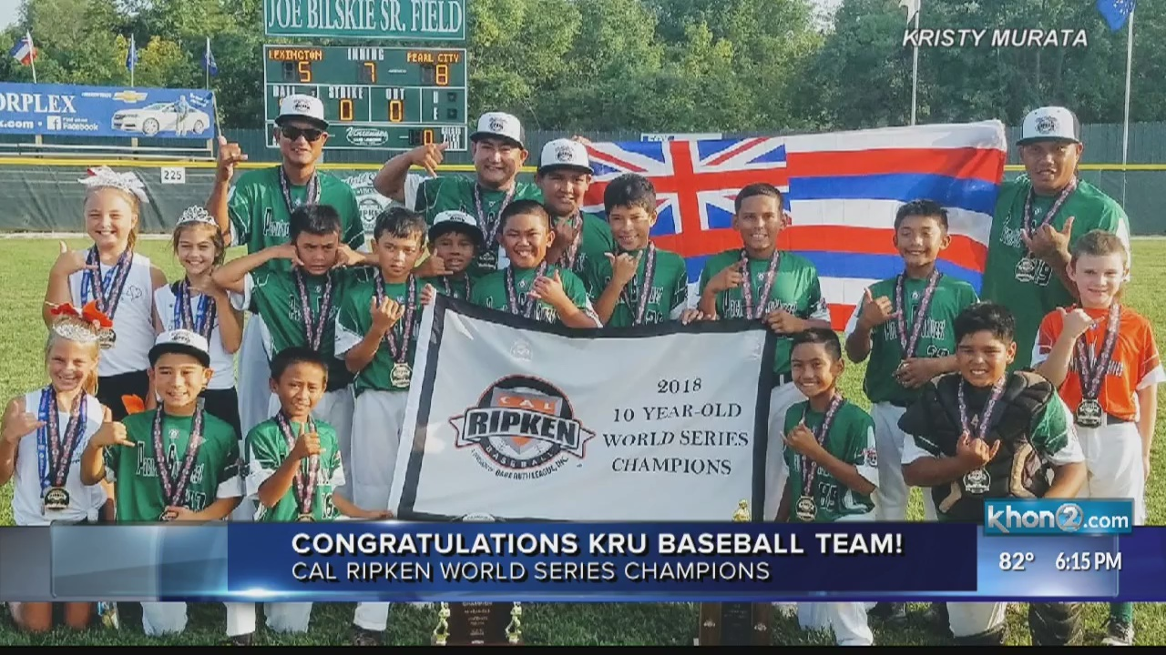 Hawaii baseball team wins Cal Ripken World Series in wake of tragedy