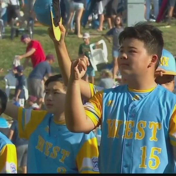 Hawaii celebrates as the Honolulu Little League team wins U.S. Title