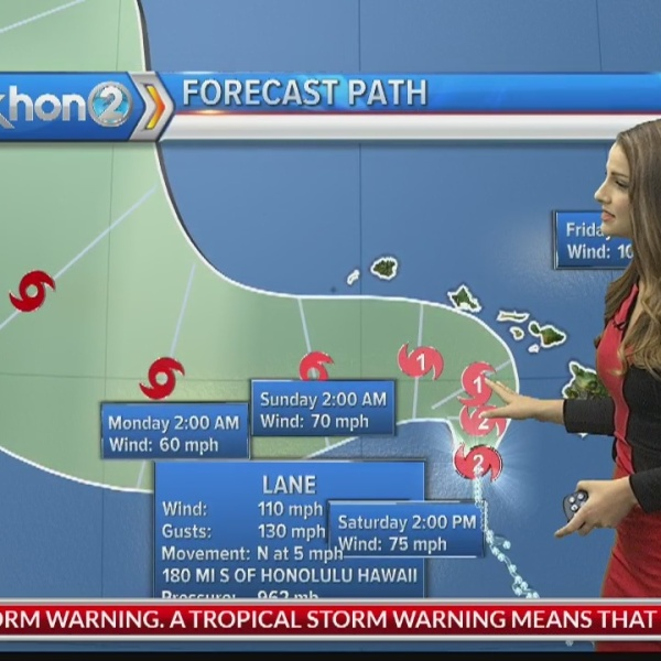 Hurricane Lane update: Aug. 24, 2018 at 5 a.m. HST
