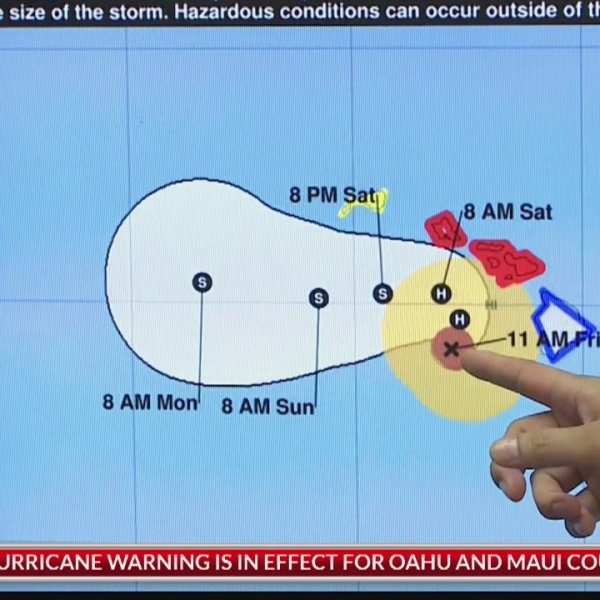 Hurricane Lane update: Aug. 24, 2018 at 11 a.m. HST