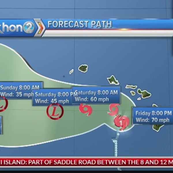 Hurricane Lane update: Aug. 24, 2018 at 2 p.m. HST