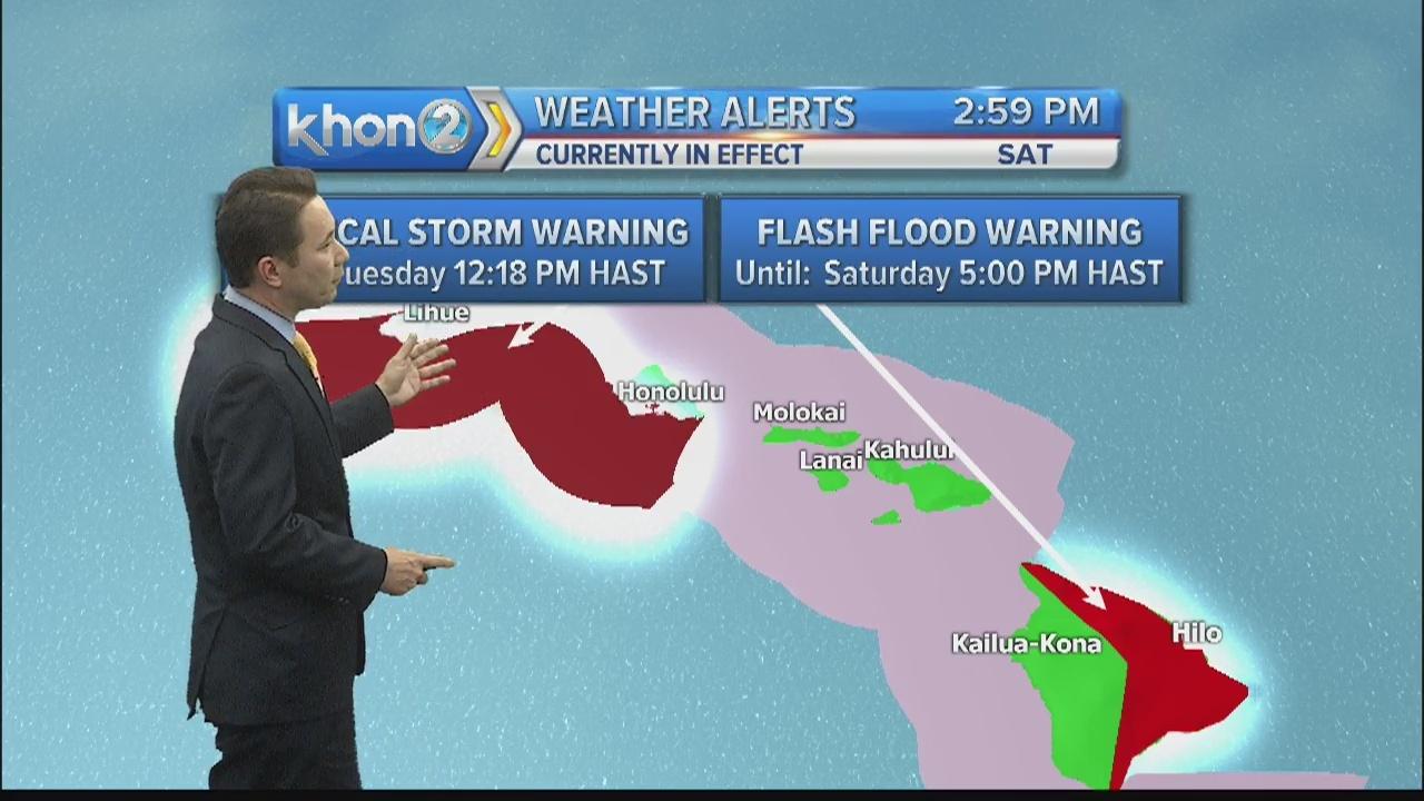 Tropical Storm Lane update: 3 p.m. Aug. 25