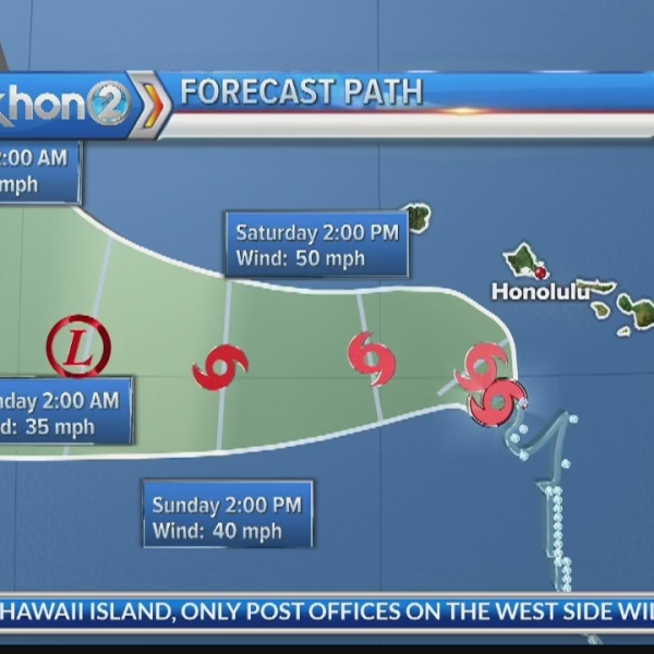 Tropical Storm Lane update: Aug. 25, 2018 at 8 a.m. HST