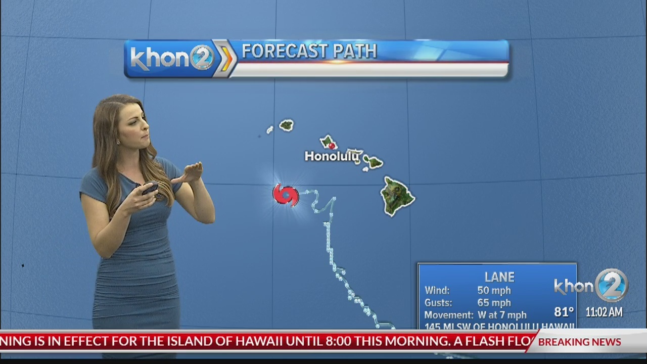 Tropical Storm Lane update: Aug. 25, 2018 at 11 a.m. HST
