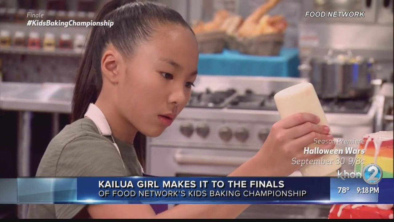 Hawaii girl shares fun facts at 'Kids Baking Championship' finale