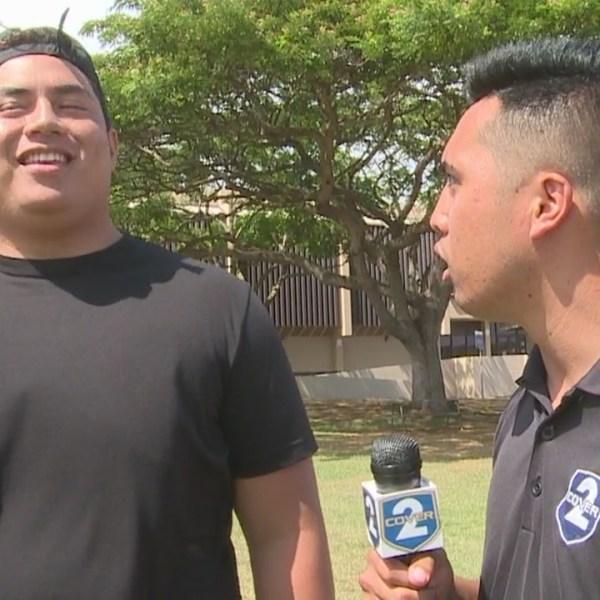 Pop Quiz with Kamehameha offensive lineman Lokahi Pauole
