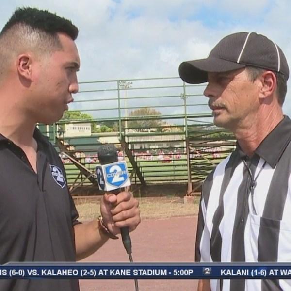 Pop Quiz with referee Wade Miranda
