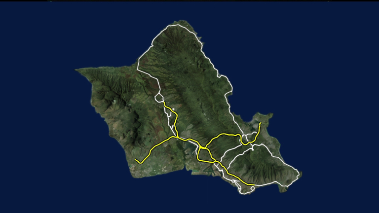 oahu generic island graphic