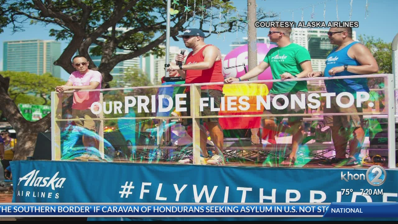 Alaska Airlines - supporting pride and equality
