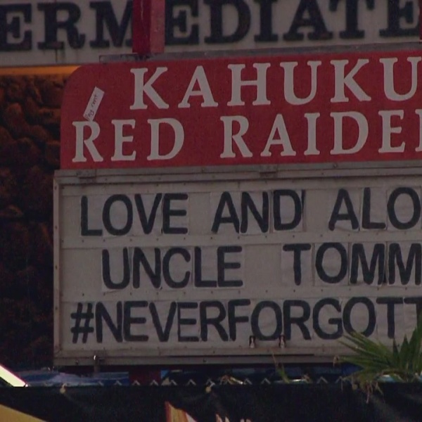 Gone, but never forgotten; Kahuku Red Raiders honor Uncle Tommy's legacy