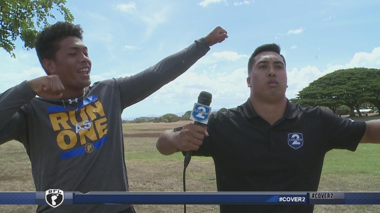 Pop Quiz: Testing the acting skills of Punahou linebacker Maninoa Tufono