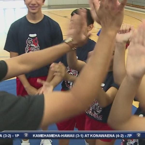 Pop Quiz with Saint Louis cheerleaders from Sacred Hearts Academy
