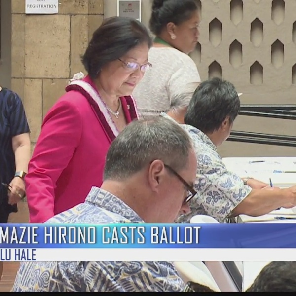 Candidates cast their ballots before early walk-in voting ends