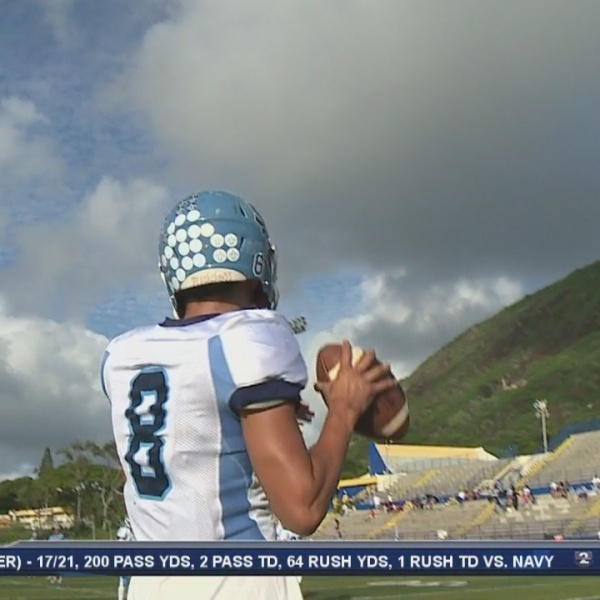 Forfeited season won't stop Saint Francis' quarterback from counting his blessings