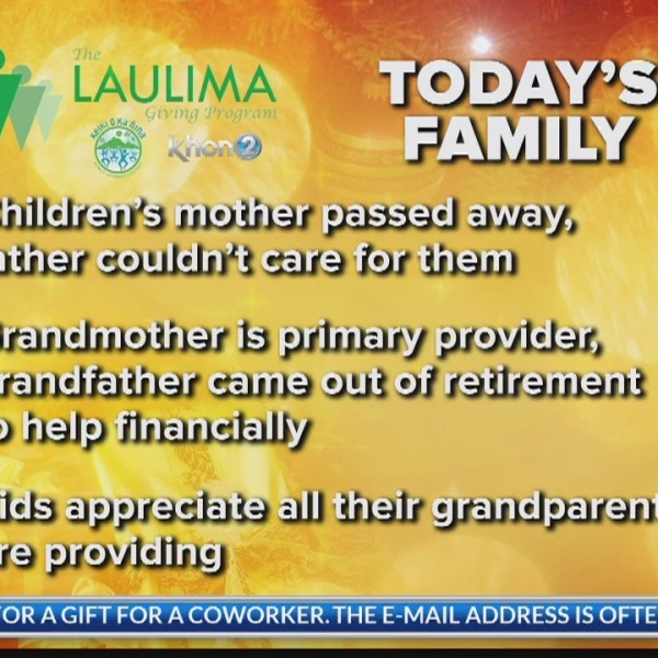 Grandparents Asking for Clothes, Rice Cooker to Help with Grandkids