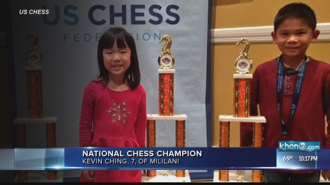 Hawaii 7-year-old named national chess champion