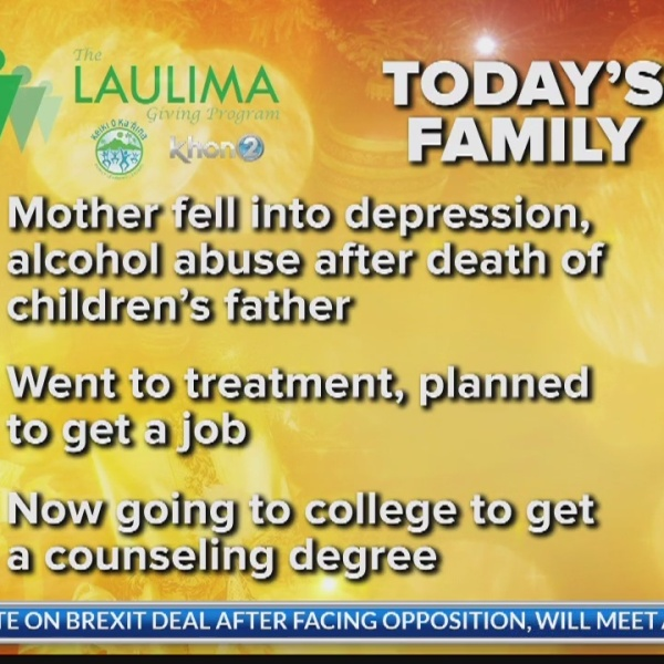 Single mother of four on the road to recovery