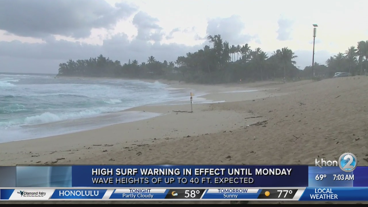 High Surf Warning in Effect until Monday