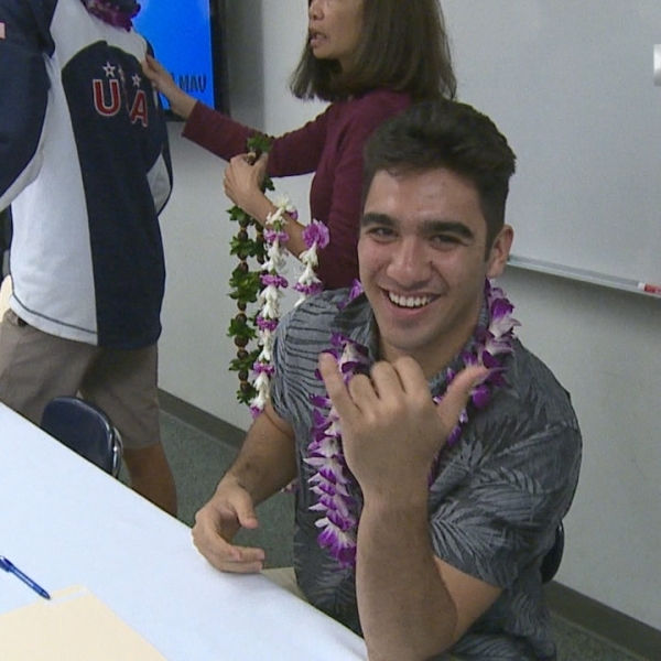 Hoku Arias will walk on to the University of Hawaii