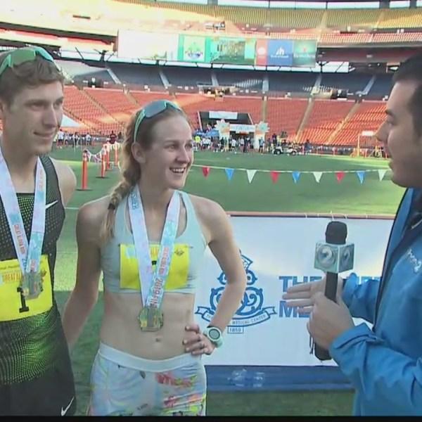 Husband and Wife finish first in 'Great Aloha Run'