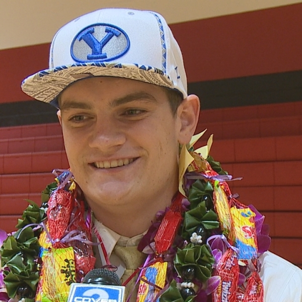Kahuku's Ethan Erickson will return home after signing with BYU