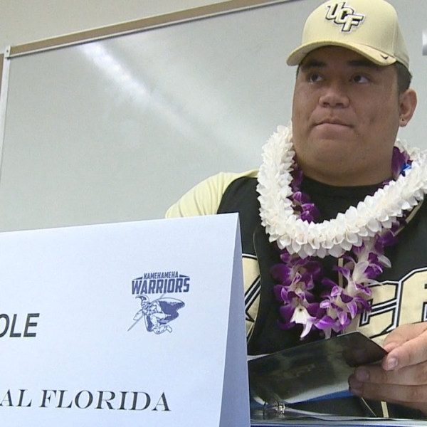 Three-star recruit Lokahi Pauole to join Hawaii guys at UCF