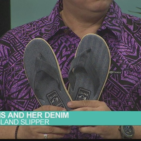 Island Slipper: His and Her Denim