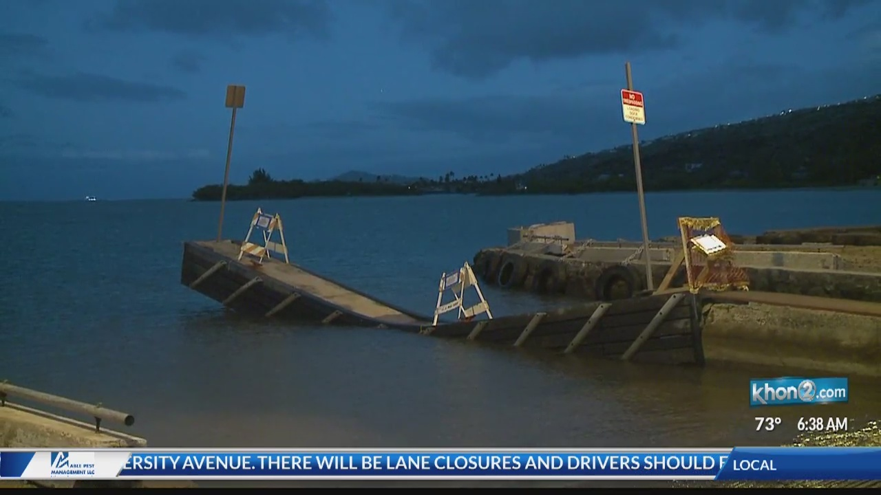 Mauna Lua Boat Ramp closed for repairs