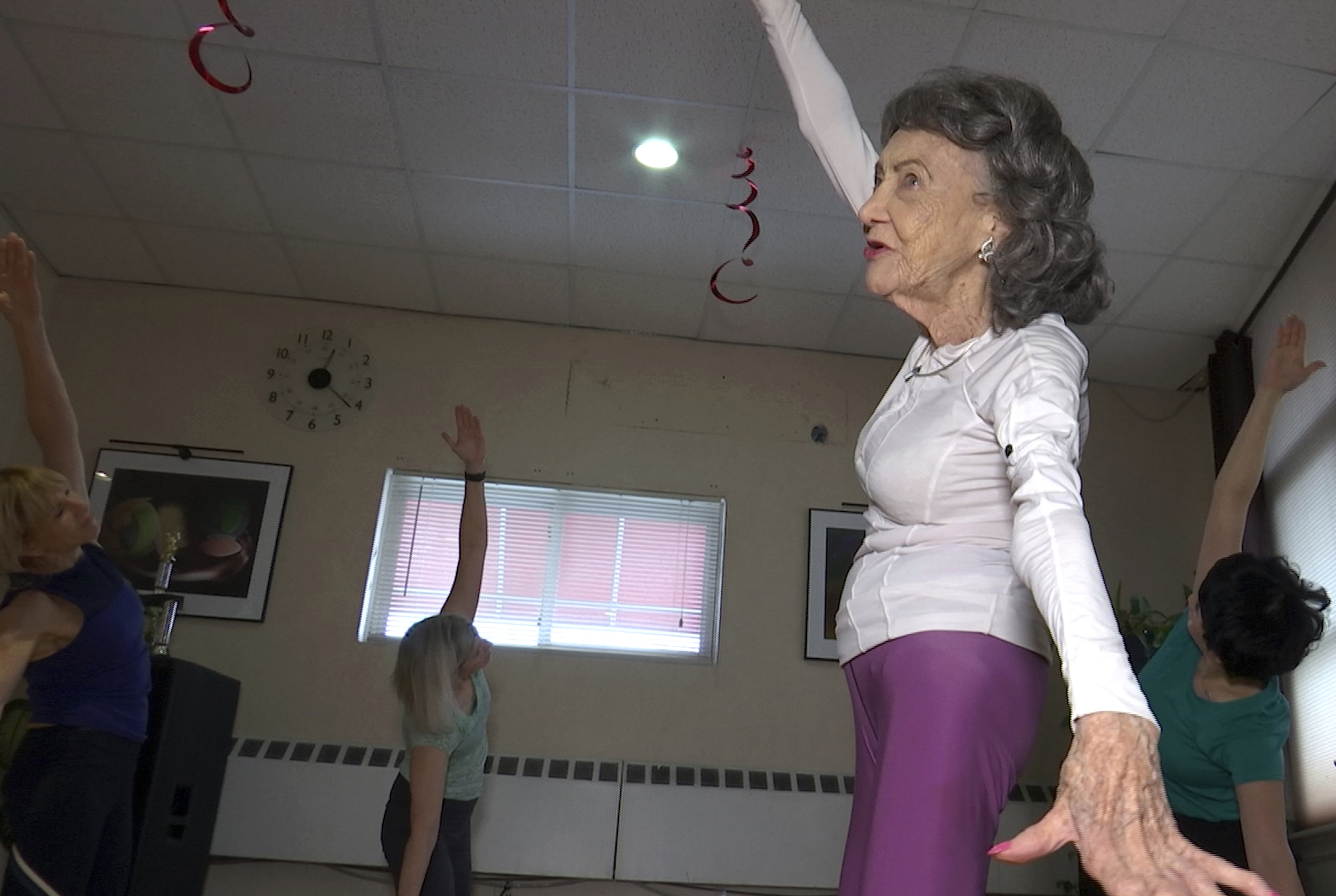 100 Year Old Yoga Instructor Keeps Moving Dancing