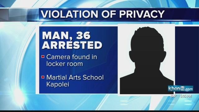 Hidden camera in martial arts school's shower leads to arrest