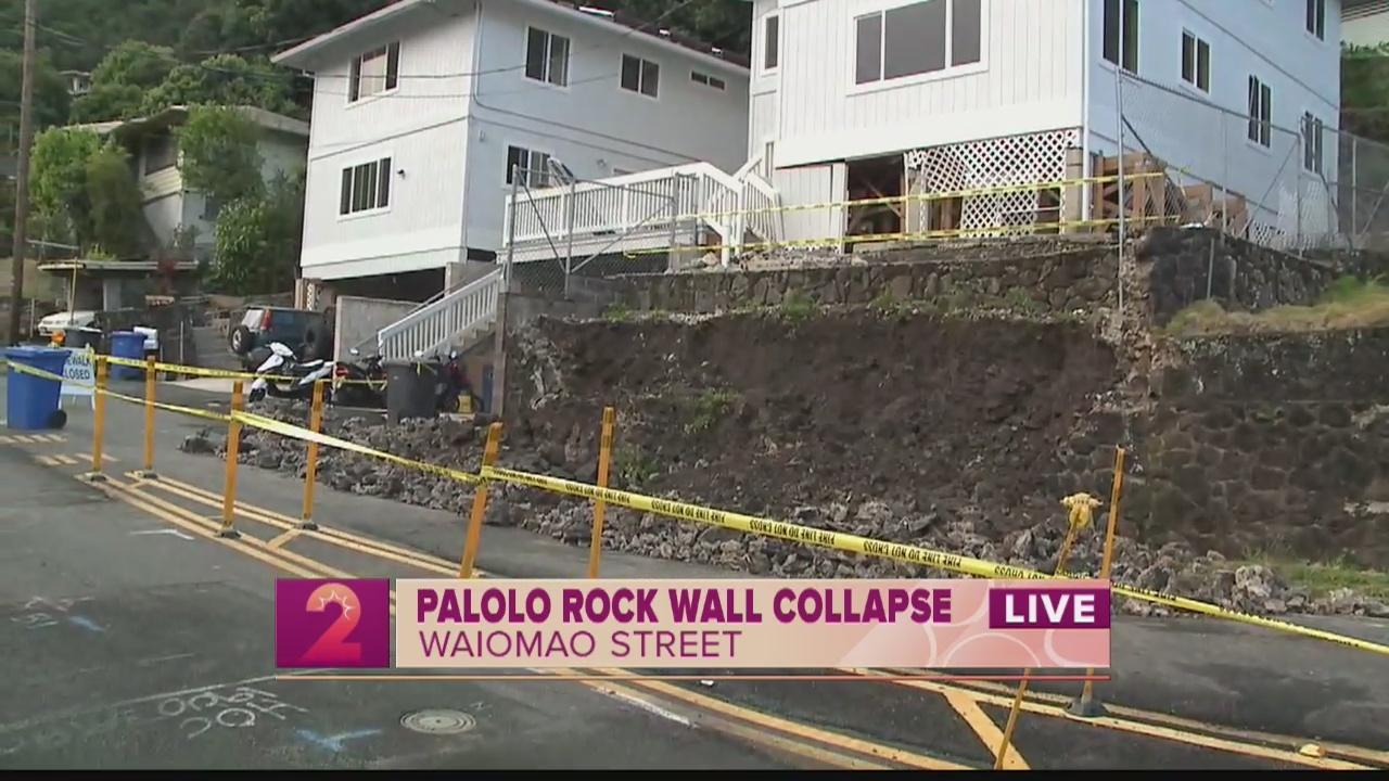 Take 2: Palolo Rock Wall Collapse