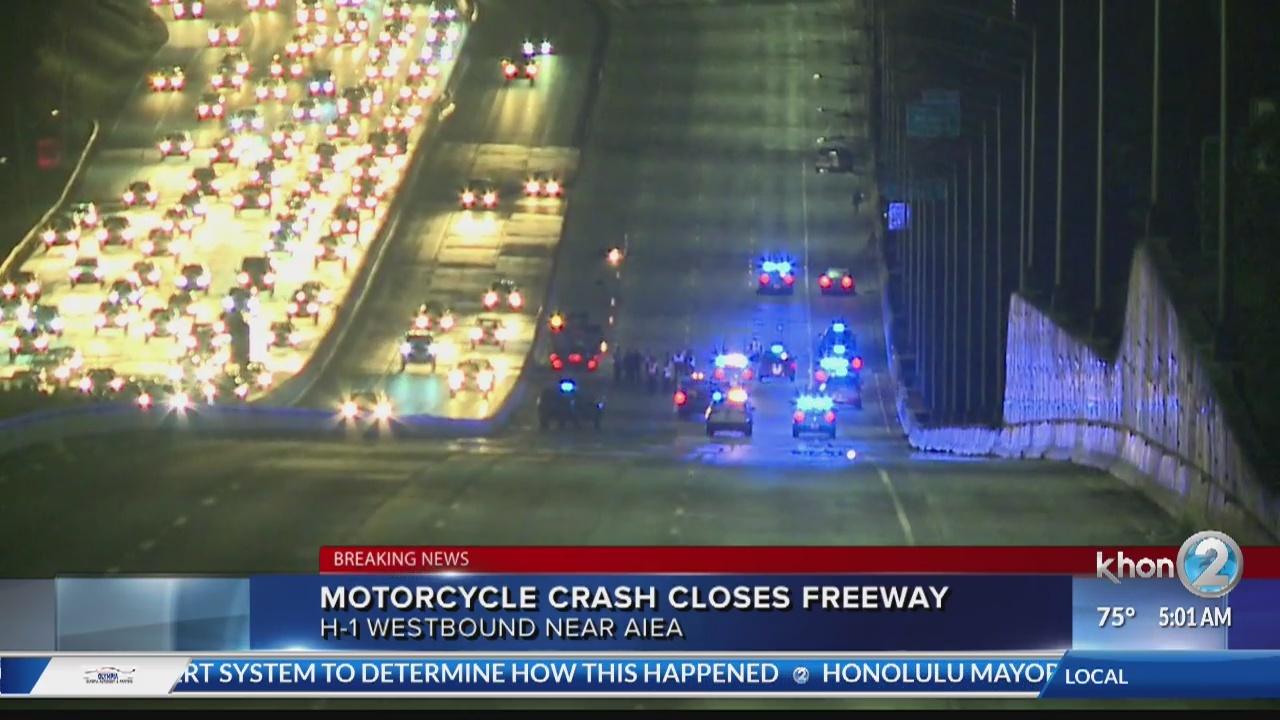 Deadly crash on H1 kills motorcyclist
