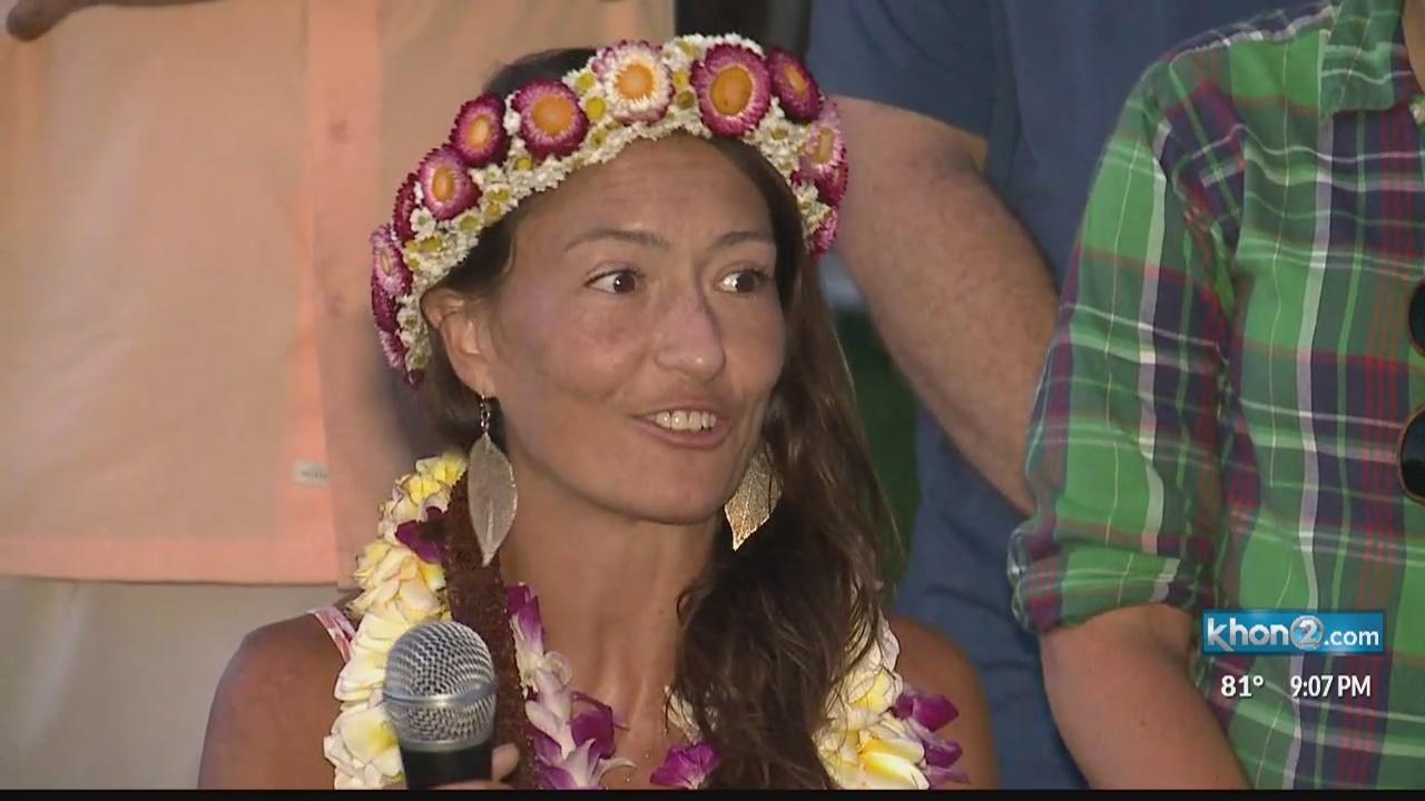 Missing Maui woman Amanda Eller speaks at thank you gathering