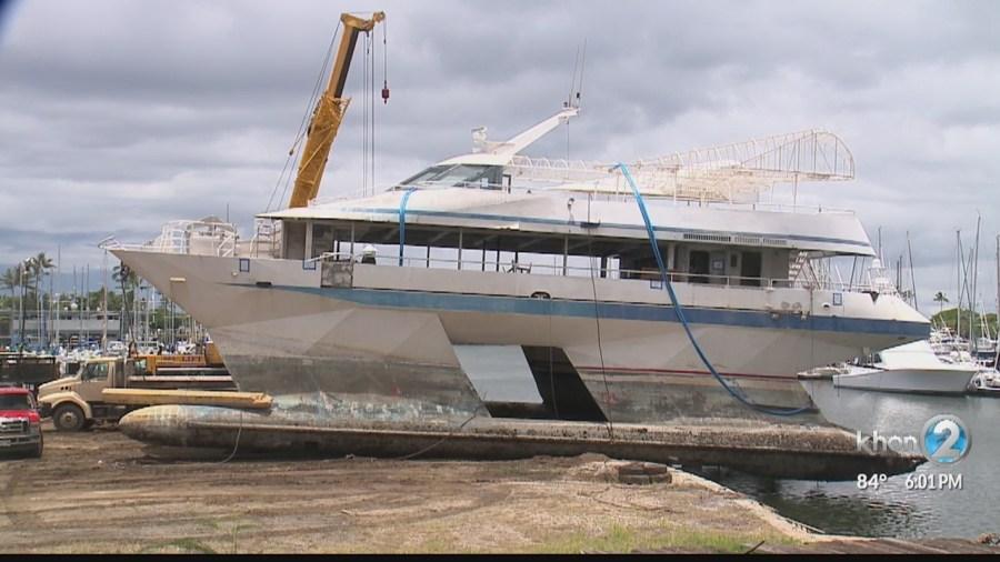 Navatek still stuck at the Ala Wai Boat Harbor