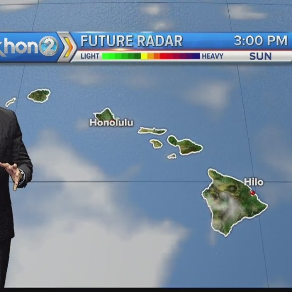 Breezy trade winds linger through Father's Day before easing off