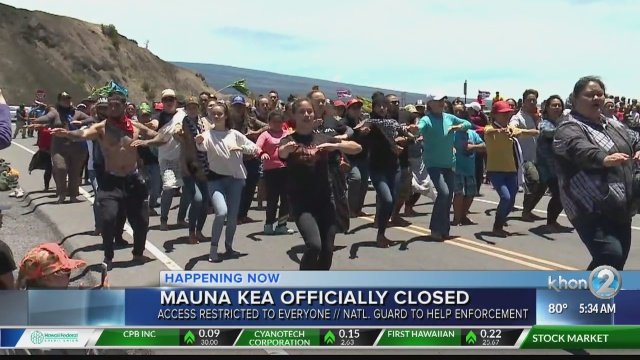Day five of the TMT standoff will be first full day Mauna Kea is officially closed
