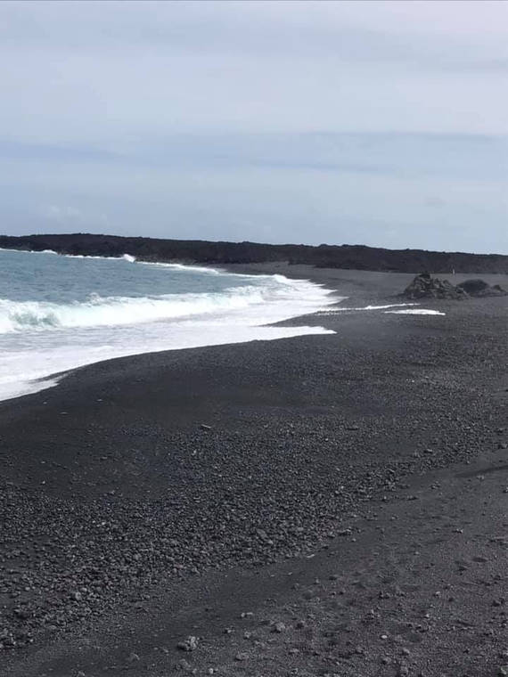 New black sand beaches formed from 2018 Kilauea eruptions