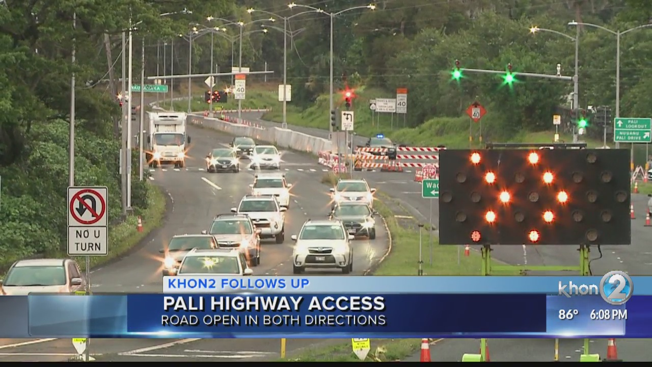 The Pali is back open in both directions with limited hours
