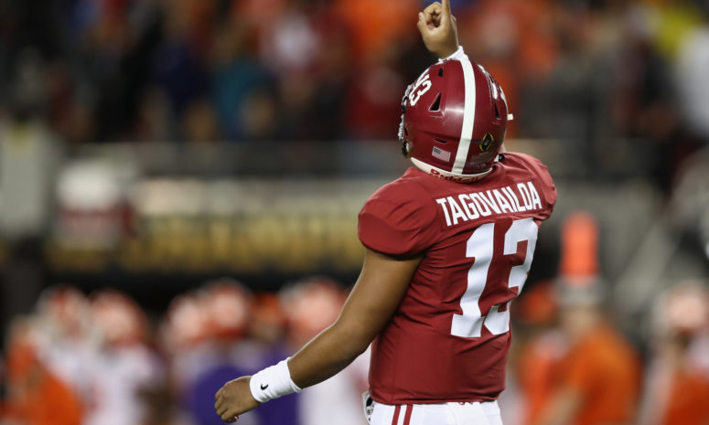 hot sale online 95389 0d28b Tagovailoa leads Alabama through the air in 49-7 win over ...