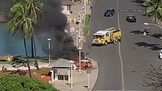 Aloha Tower Marketplace car fire suspect released
