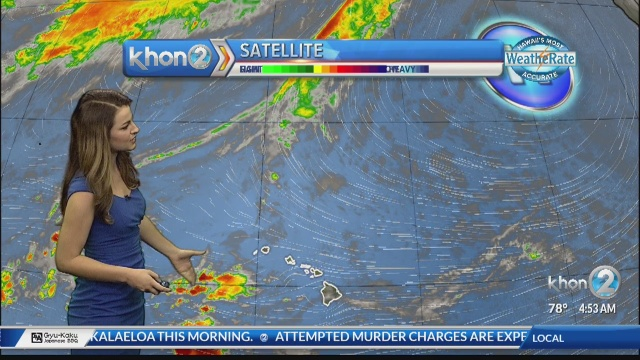 An increase in trade winds expected, with windward and mauka showers