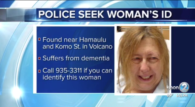 Hawaii Island police seeking woman's identification