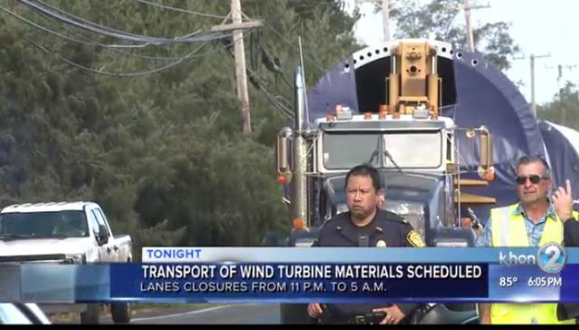 Transport of wind turbine materials scheduled