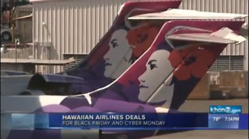Hawaiian Airlines To Offer Flight Deals For Black Friday And Cyber Monday Khon2