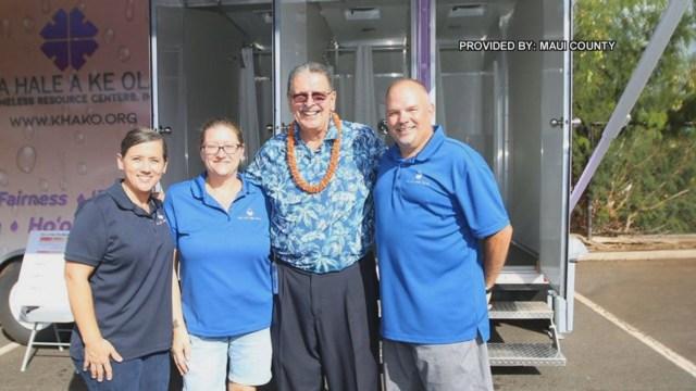 Mobile hygiene center open house held on Maui