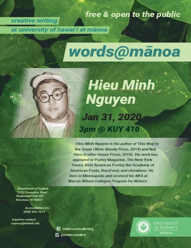 Award-winning poet Hieu Minh Nguyen to speak at UH Manoa