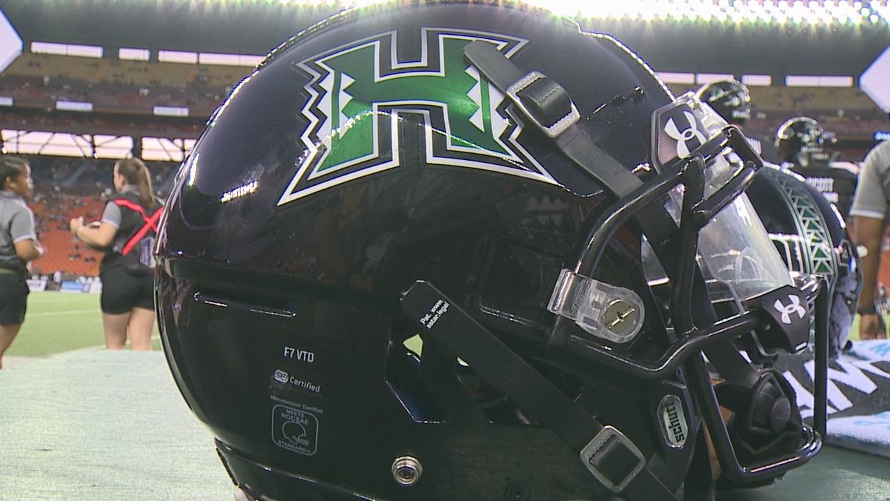 University of Hawaii Football Helmet